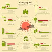 Eco infographic στοιχεία — Διανυσματικό Αρχείο