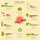 Eco infographic elements — Vector de stock