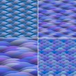 Seamless background of abstract waves - Imagen vectorial
