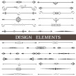 vector set of calligraphic design elements and page decor — Stock Vector
