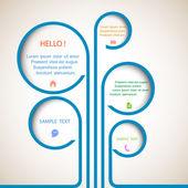 árvore de bolhas de web design — Vetorial Stock