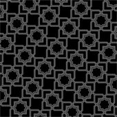 Black and white arabic pattern — Stock Vector