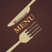 Vector restaurant menu design — Stock Vector