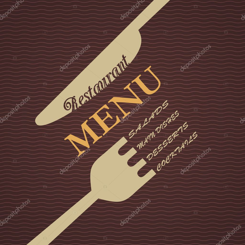 Vector restaurant menu design — stock a r t u