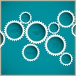Royalty-Free Stock Vector Image: Abstract gear wheels