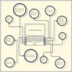 Concept laptop. Vector design template — Stock Vector