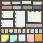 Kolekce různých poznámek papíru — 图库矢量图片