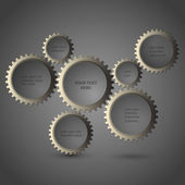 Metalliska kugghjul — Stockvektor