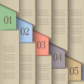 Papier genummerd banners — Stockvector