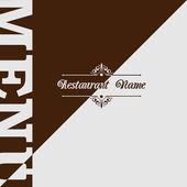 Projeto de menu do restaurante retrô — Vetor de Stock