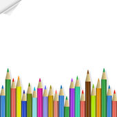 Vector background with colored pencils — Stockvector