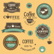 Coffee labels for design vintage style - Stock Vector