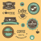 Coffee labels for design vintage style — Stock Vector