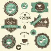Vector coffee labels. Vintage style — Stock Vector