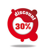 Discount icon/label — Stock Vector