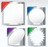 Metallic label/sticker set — Stock Vector