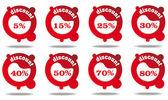 Unique sale/discoun label collection — Vector de stock