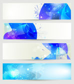 Creative abstract banner collection — Stock Vector