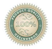 Satisfaction guarantee 100% — Stock Vector