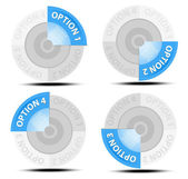 One, two, three, four vectoroptions — Stock Vector