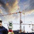 Stock Photo: Construction and technology