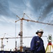 Foto Stock: Building engineers and industry