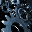 Titanium and steel gears and bearings — Stock Photo