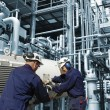 Oil and gas engineering with machinery — Stock Photo
