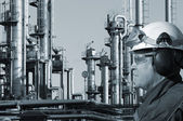 Oil and gas engineer, chemical industry — Stock Photo