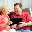 Tablet PC for Mother — Stock Photo #11048409