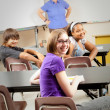 School Kids in Class — Stock Photo