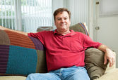 Mid Adult Man Relaxing at Home — Stock Photo