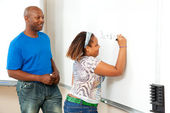African American Teacher and Student — Stock Photo