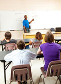 African-American Teacher and Class — Stock Photo