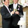 Gay Wedding - Champagne Toast - Stock Photo