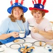 Stock Photo: Patriotic TeParty Voters