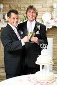 Gay Wedding - Champagne Toast — Stock Photo