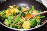 Healthy Vegetable Stir Fry — Stock Photo