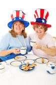 Patriotic Tea Party Voters — Stock Photo