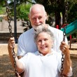 Senior Swingers - Stock Photo