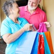 Seniors - Shopping Trip — Stock Photo
