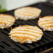 Turkey Burgers on the Grill — Stock Photo