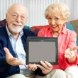 Senior Couple with Message for You — Stock Photo