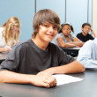 School Kids in Class - Wide Banner — Stock Photo #11633299