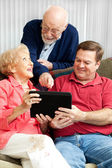 Learning the Tablet PC — Stock Photo