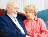 Senior Flirtation — Stock Photo