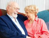 Senior Flirtation — Stock Photo