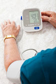 Monitoring Blood Pressure — Stock Photo
