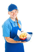 Teenage Fast Food Worker — Stock Photo