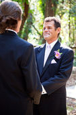 Gay Marriage - Handsome Latino Groom — Stock Photo